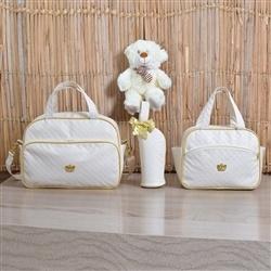 Conjunto de Bolsas Maternidade Realeza Marfim
