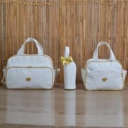 Conjunto de Bolsas Maternidade Realeza White
