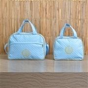 Conjunto de Bolsas Maternidade Urso Dourado Azul