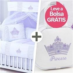 Kit Berço Princesinha Lilás + Bolsa