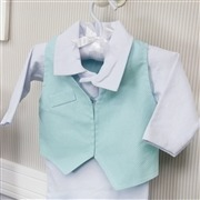 Saída Maternidade 03 Peças Masculino Poá Azul Tamanho Único