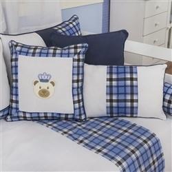 Almofadas Decorativas Urso Realeza Marinho