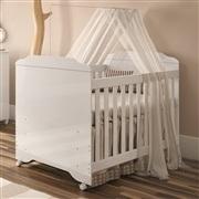 Quarto para Bebê Mel com Berço/Cômoda/Guarda Roupas de 4 Portas