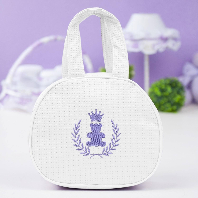 Bolsa Maternidade Realeza Lilás e Branco