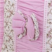 Kit Cama Babá Drapeado Rosa Floral