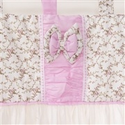 Cortina Drapeado Rosa Floral