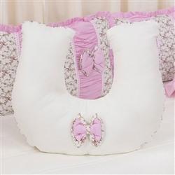 Almofada para Amamentação Drapeado Rosa Floral