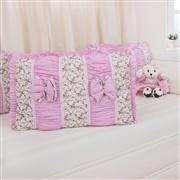 Quarto para Bebê Drapeado Rosa Floral