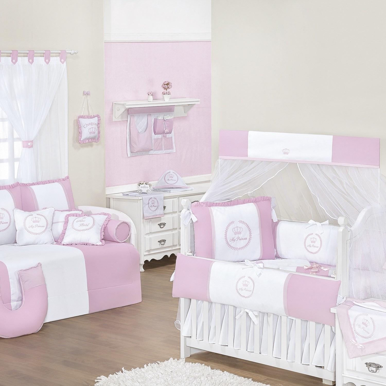 Quarto para Bebê sem Cama Babá My Princess Rosa