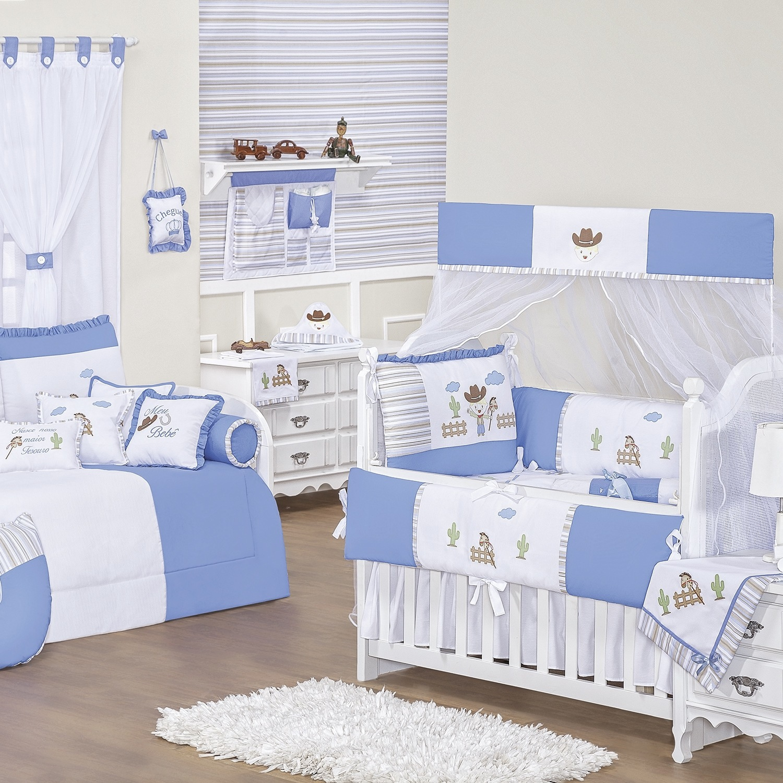 Quarto para Bebê sem Cama Babá Fazendinha Azul
