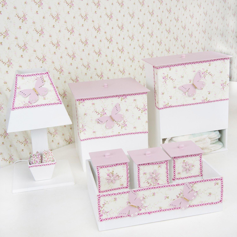 Kit Higiene Borboleta Floral
