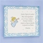 Quadro Decorativo Arabesco Oração Santo Anjo Azul