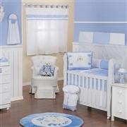 Quarto para Bebê sem Cama Babá Urso Anjinho Azul