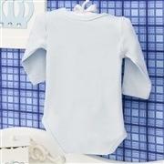 Body Manga Longa Gordinho Gostoso Azul Recém-nascido a 3 meses