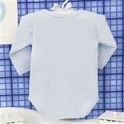 Body Manga Longa Gordinho Gostoso Azul 6 a 9 Meses