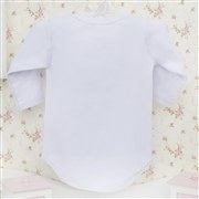 Body Manga Longa Princesa Branco 6 a 9 Meses
