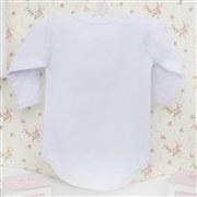 Body Manga Longa Princesa Branco 9 a 12 Meses