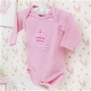 Body Manga Longa Princesa Rosa Recém-nascido a 3 meses