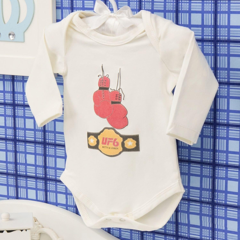Body Manga Longa UF6 Palha Recém-nascido a 3 meses