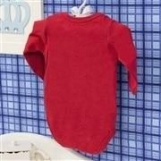 Body Manga Longa UF6 Vermelho Recém-nascido a 3 meses