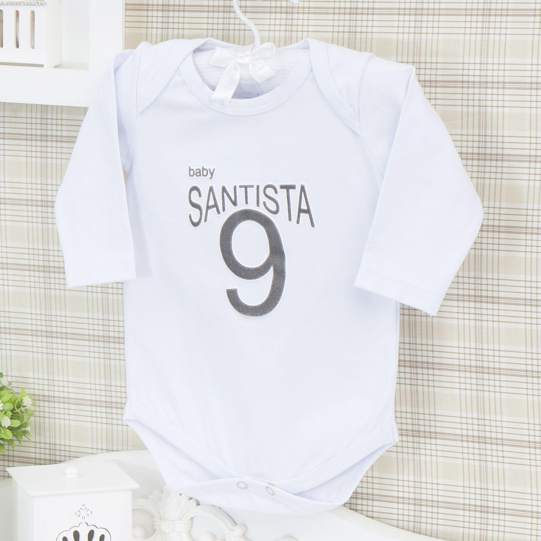 Body Manga Longa Santista Branco Recém-nascido a 3 meses