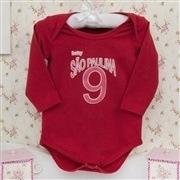 Body Manga Longa São Paulina Vermelho Recém-nascido a 3 meses