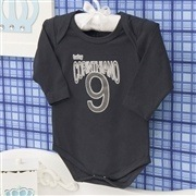Body Manga Longa Corinthiano Preto Recém-nascido a 3 meses