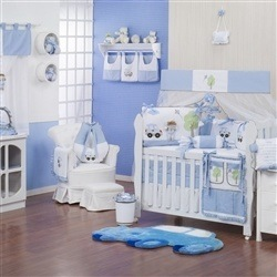 Quarto para Bebê sem Cama Babá Brinquedos de Menino
