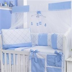 Kit Berço Soft Azul