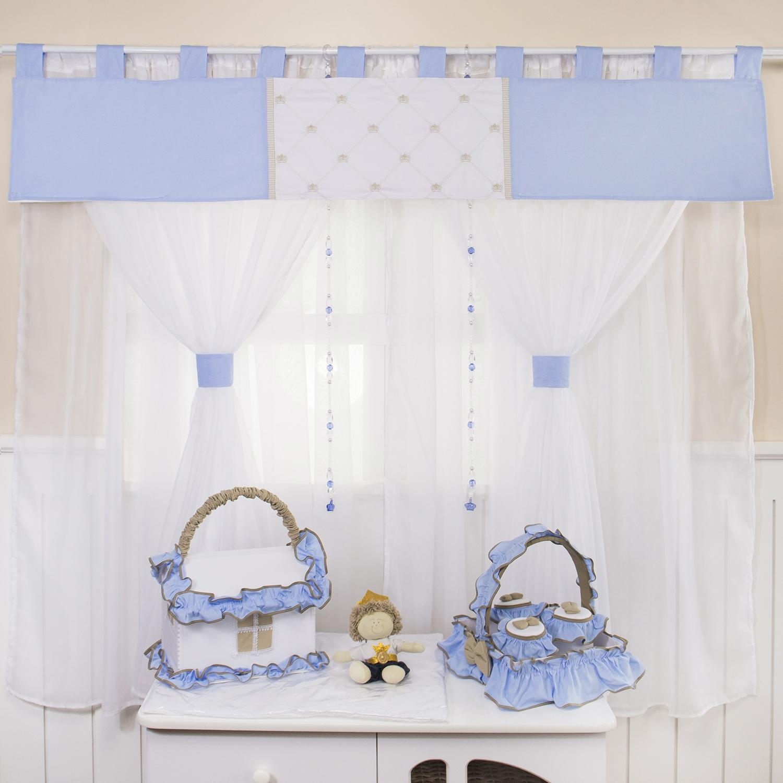 Cortina Realeza Luxo Azul