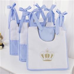 Porta Fraldas Varão Realeza Luxo Azul