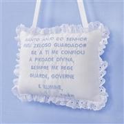 Enfeite Oração Santo Anjo Realeza Luxo Azul