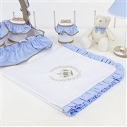 Manta Realeza Luxo Azul