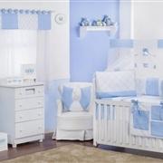 Quarto para Bebê sem Cama Babá Soft Azul