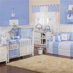 Quarto para Bebê Realeza Luxo Azul