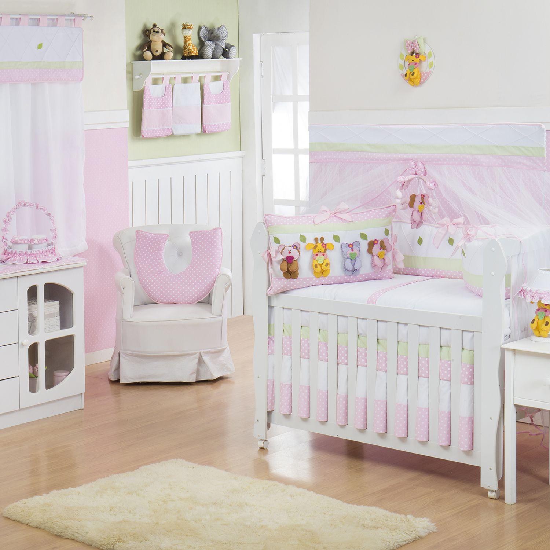 Quarto para Bebê sem Cama Babá Bebezinho Rosa