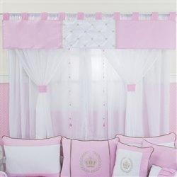 Cortina Realeza Luxo Rosa