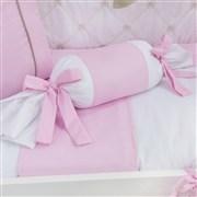 Almofada Apoio Bala Realeza Luxo Rosa