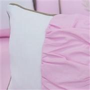 Almofada Retangular Realeza Luxo Rosa