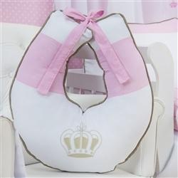 Almofada para Amamentação Realeza Luxo Rosa