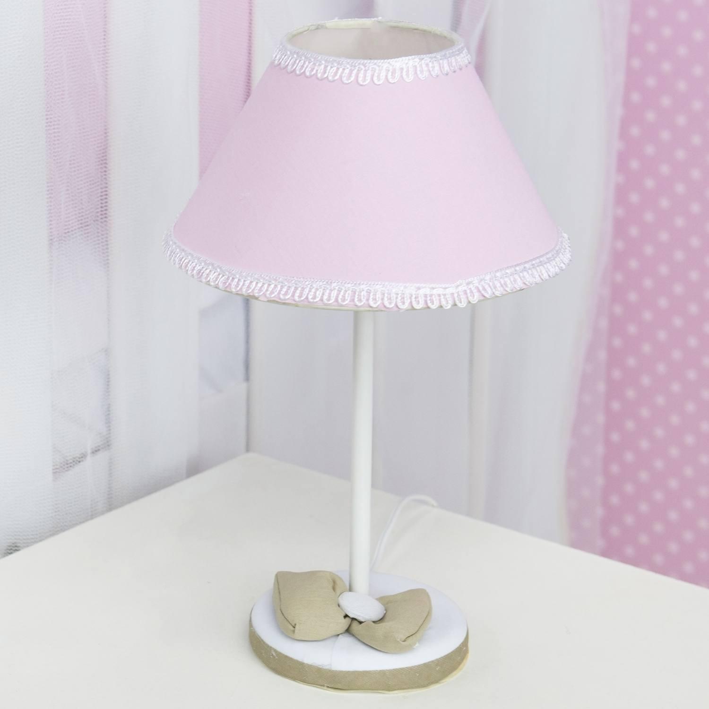 Abajur Realeza Luxo Rosa