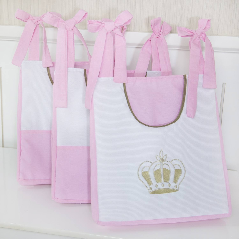 Porta Fraldas Varão Realeza Luxo Rosa