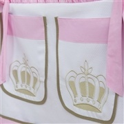 Porta Treco Realeza Luxo Rosa