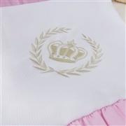 Manta Realeza Luxo Rosa