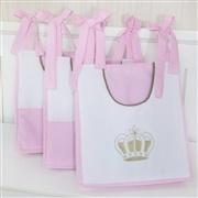 Prateleira Completa Realeza Luxo Rosa