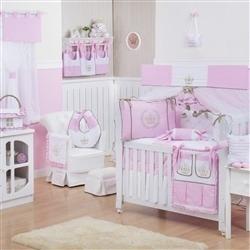 Quarto para Bebê sem Cama Babá Realeza Luxo Rosa