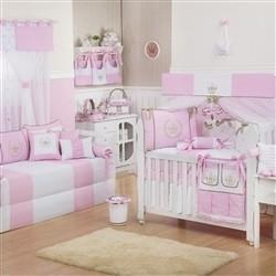 Quarto para Bebê Realeza Luxo Rosa