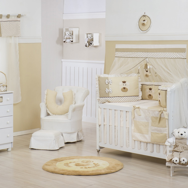 Quarto para Bebê sem Cama Babá Nobreza Bege
