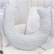 Quarto Econômico para Bebê sem Cama Babá Chevron Azul