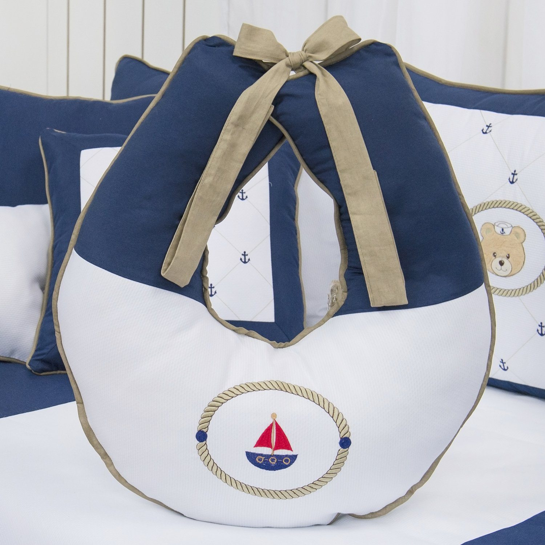 Almofada para Amamentação Elegance Ursinho Marinheiro Marinho